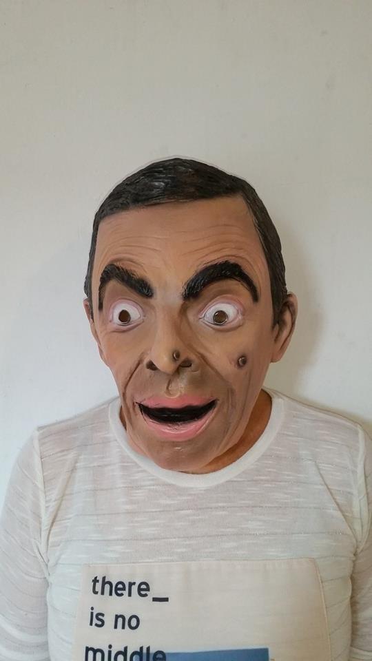 La máscara para la persona hasta el baño o después de