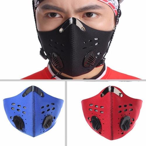 mascara de neopreno con filtro de carbon activado deportes