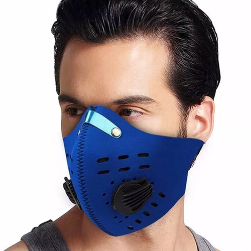 mascara de neopreno para bicicleta motociclista azul d1041