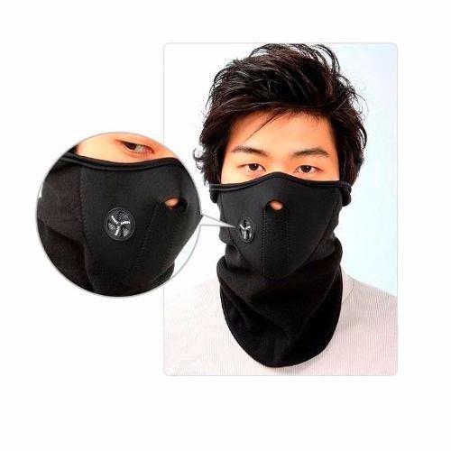 mascara de neopreno para ciclismo, motociclismo y mas negro