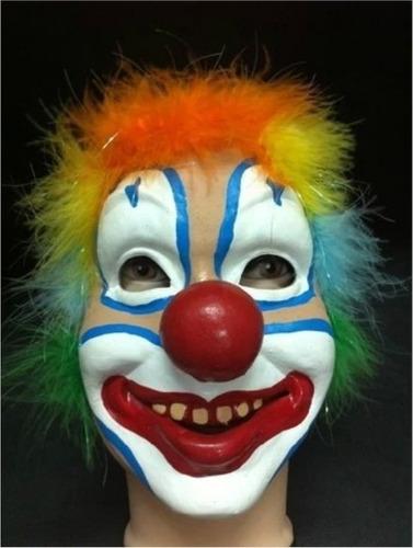 máscara de palhaço latex - pronta entrega *** envio em 24h