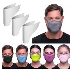 Máscara De Proteção Fiber Knit 3d + 3 Filtro Refil Esportes
