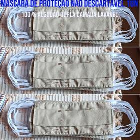 Máscara De Proteção Não Descartável 1un. - 100% Algodão