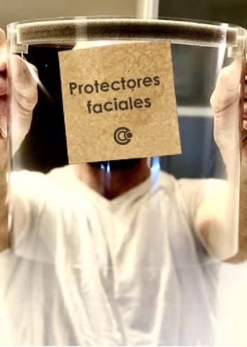 máscara de protección facial sanitaria reutilizable