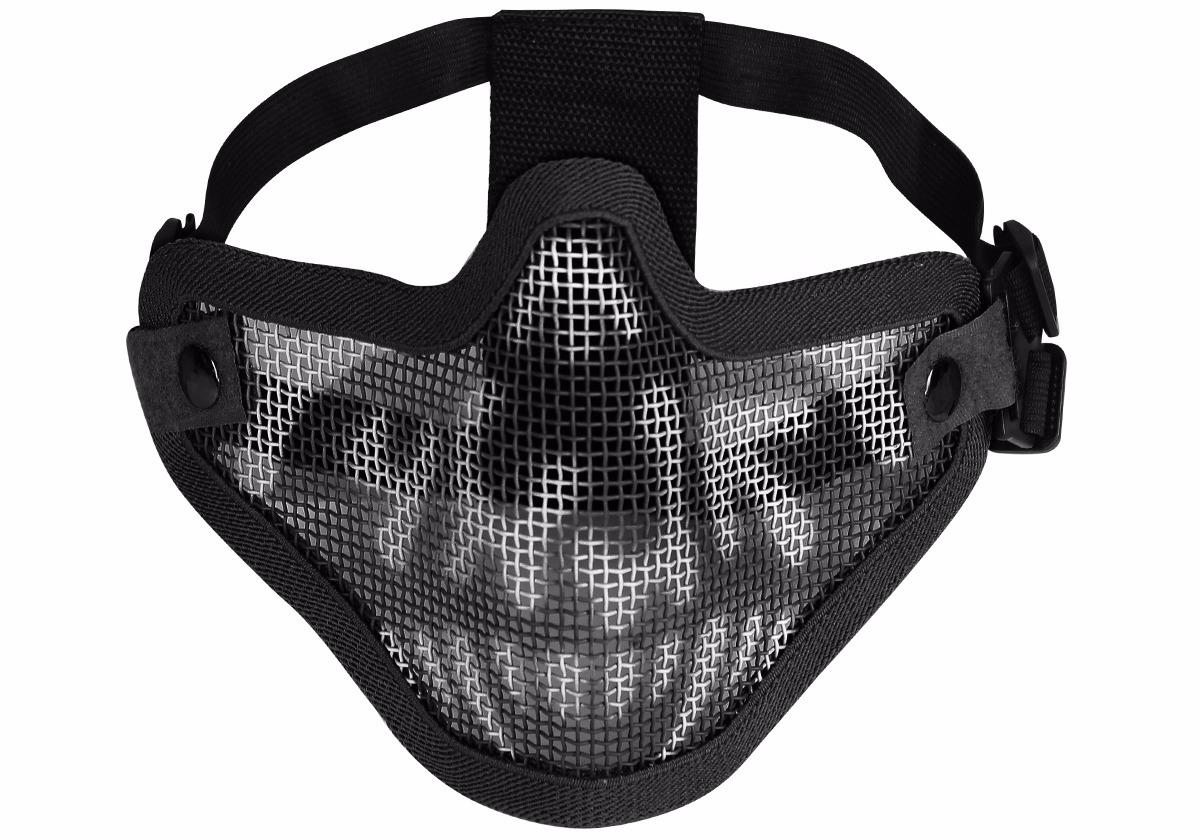 f1f4bcabd2715 máscara de proteção airsoft meia face caveira preta hy-024bk. Carregando  zoom.