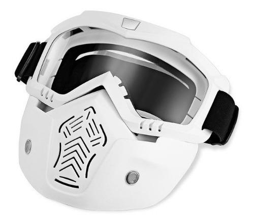 máscara de proteção com óculos removível - tamanho universal