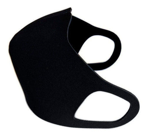 máscara de proteção impermeável neoprene preta tam adulto