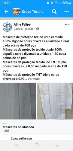 máscara de proteção tecido e tnt