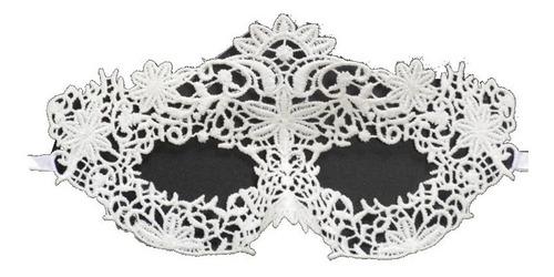 máscara de renda branca para noivas debutantes festas linda