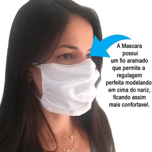 máscara de rosto 10 unidades reutilizável envio imediato