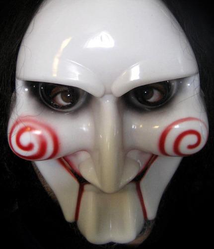 mascara de saw, en plástico pvc rígido!!! juego del miedo