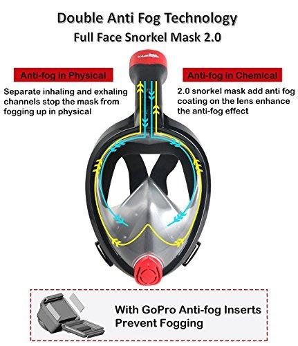 máscara de snorkel cara completa, 2017 nueva máscara de snor