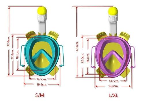 mascara de snorkel free breath visor 180 con muntura gopro