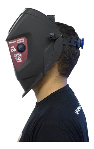 máscara de solda automática c/ regulagem 9 a 13 cr2 + lente