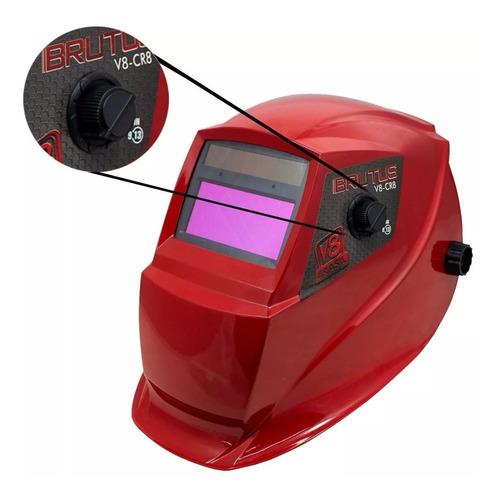 máscara de solda automática com regulagem 9/13 brutus cr8 v8
