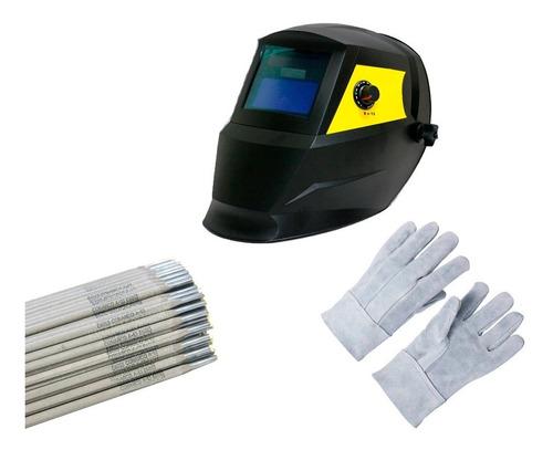 mascara de solda automatica usk c/ regulagem luva eletrodo