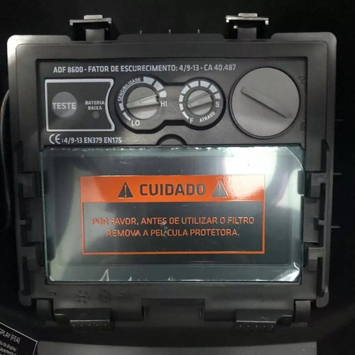 máscara de solda escur. automático c/ regulagem msea901 tork