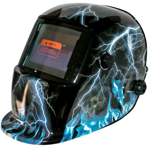 máscara de solda escurecimento automático  - modelo raios