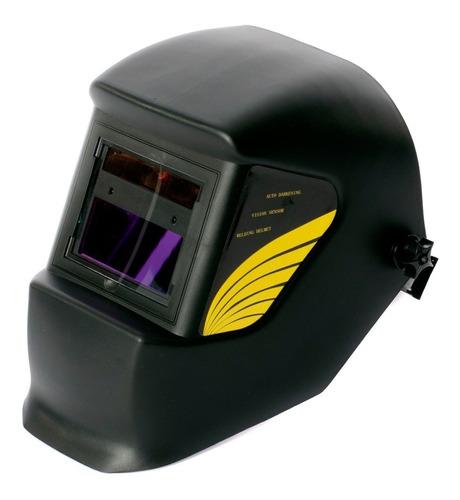 mascara de soldar fotosensibe con panel solar tipo casco