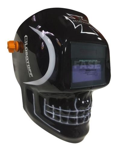 máscara de soldar fotosensible lusqtoff st terror negra