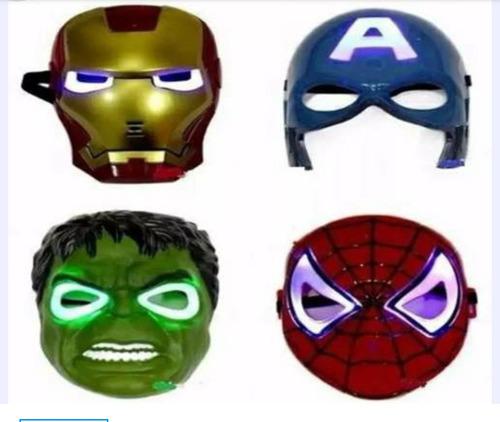 mascara de spiderman iroman hulk capitán américa