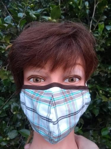 mascara de tecido dupla face  esterilizada ( 2 unidades)