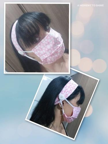 mascara de tecido + tiara