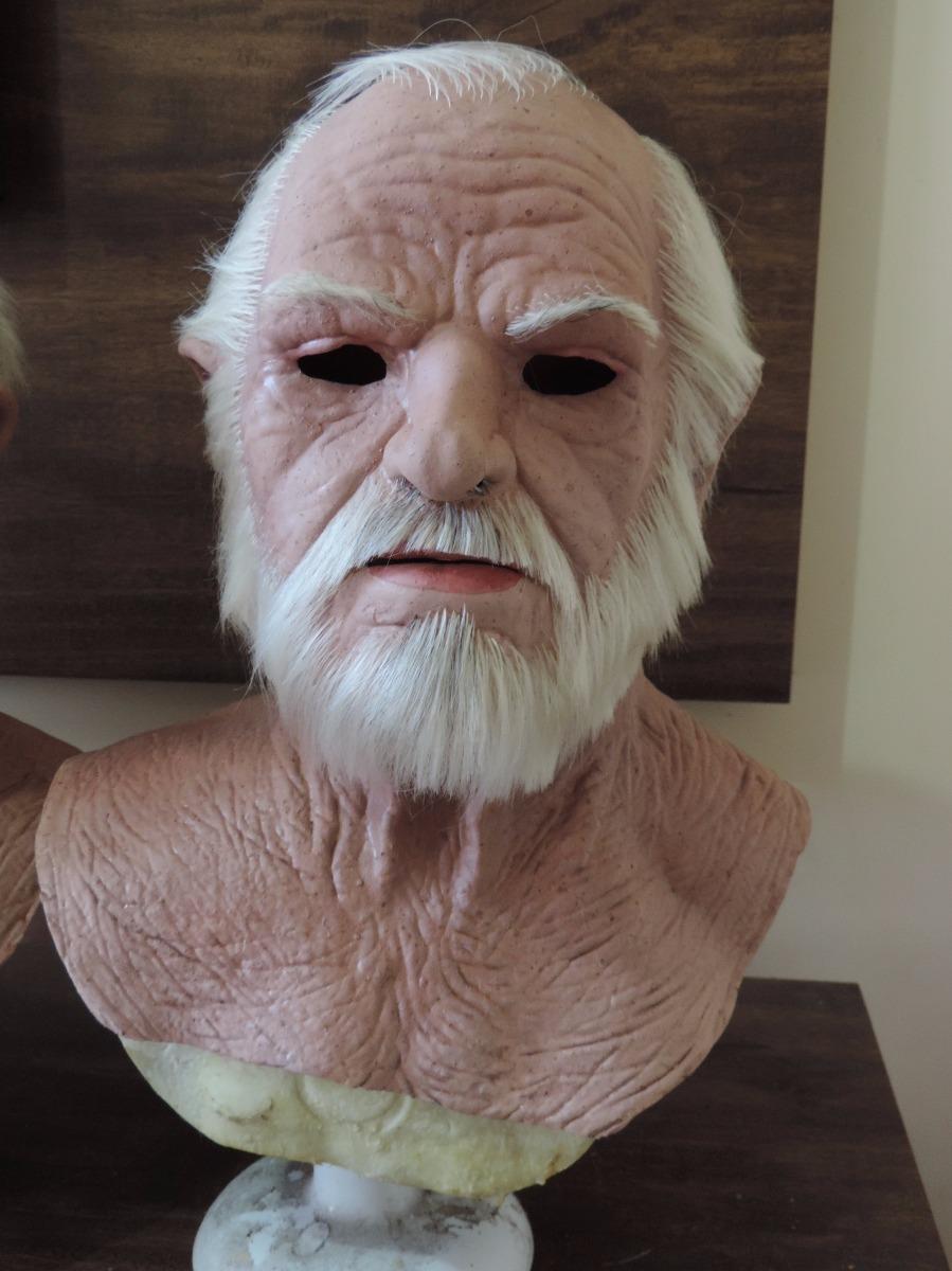 Mascara De Velho Realista - Em Latex ( Com Cabelo E Barba