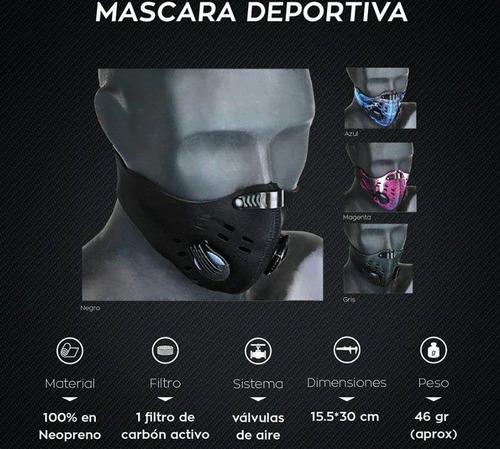 mascara deportiva antipolución gw bicicleta moto