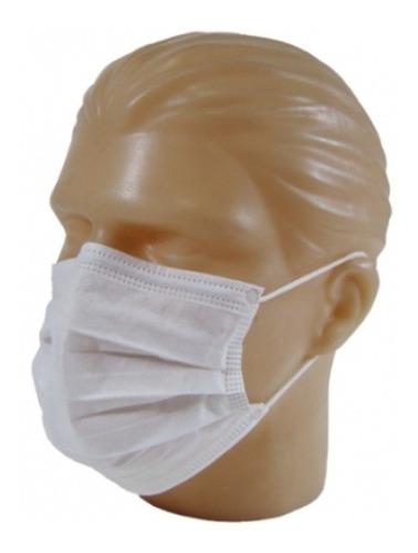 máscara descartável dupla tnt com elástico (100 un)
