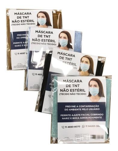 máscara descartável tnt 100 unidades embalagem individual