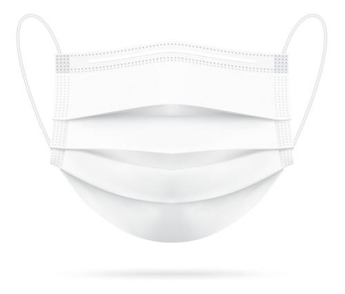máscara descartável tripla camada com clip nasal kit com 10
