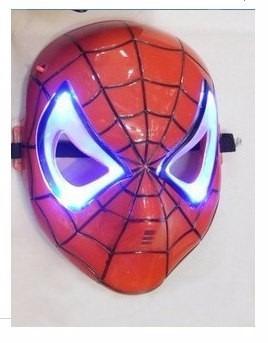 máscara do homem de ferro + homem aranha com luzes