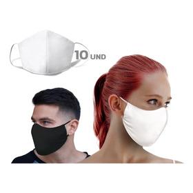 Mascara Dupla Proteção 100% Algodão Lavável - Kit 10 Peças