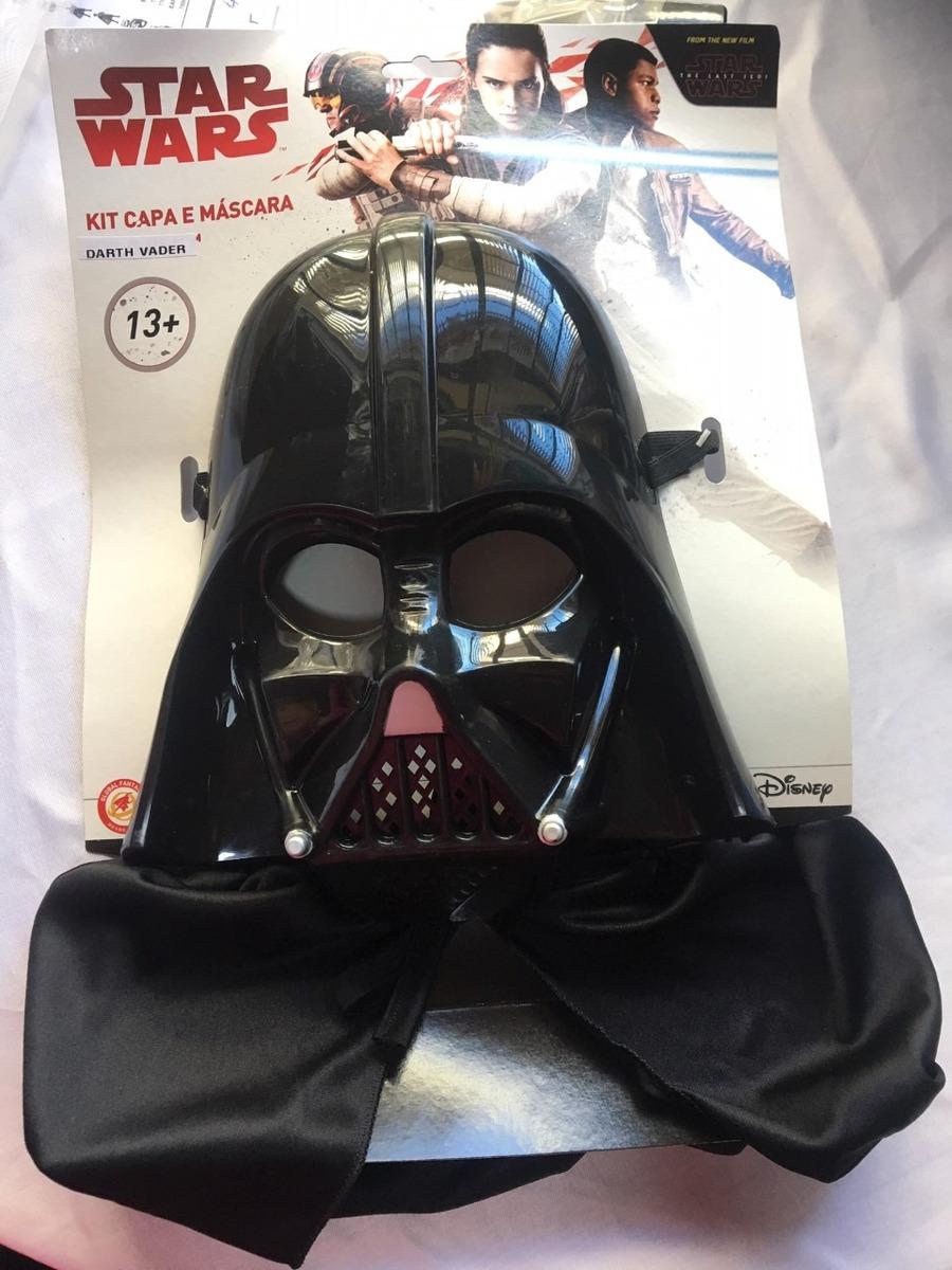 Mascara E Capa Darth Vader Guerra Nas Estrelas Juvenil R 118 34