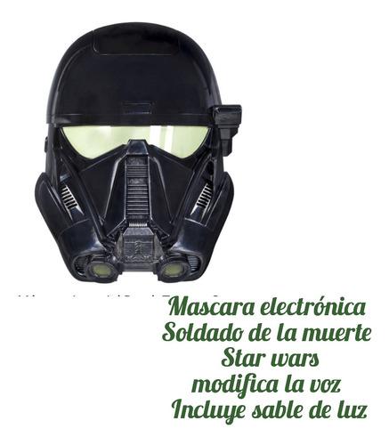 mascara electrónicosoldado de la muerte star wars
