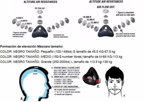 mascara elevation training mask 2.0 solo talla m