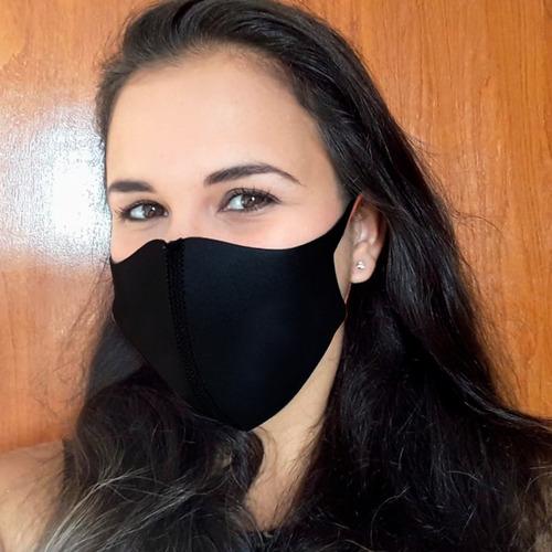máscara em neoprene preto 2mm proteção lavável envio hoje!