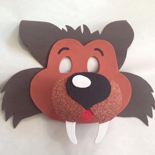 mascara en fomi foami fomy de lobo