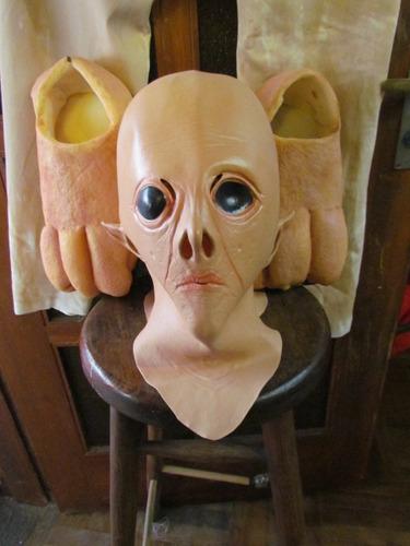 mascara en latex, disfraz - marciano.