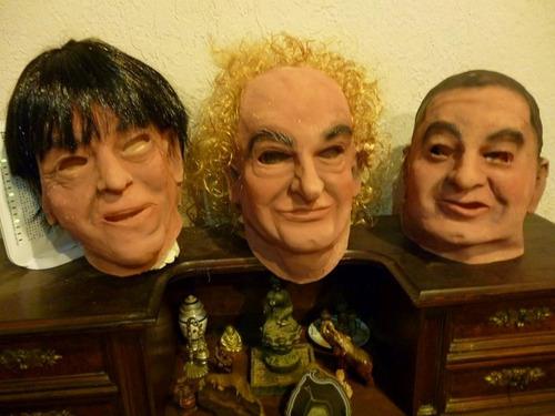 mascara en latex. los tres chiflados.