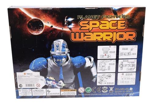 mascara espacial con dos espadas y muñequera space warrior