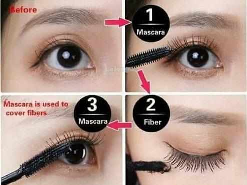 máscara extensiones de pestañas con fibra 4d ddk duo lashes
