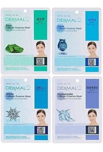 mascara facial colageno koreana original usa dermica set 24
