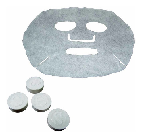 mascara facial comprimida