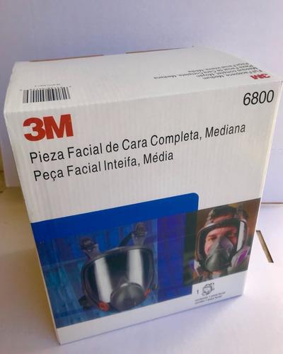 máscara facial inteira respirador 3 m 6800