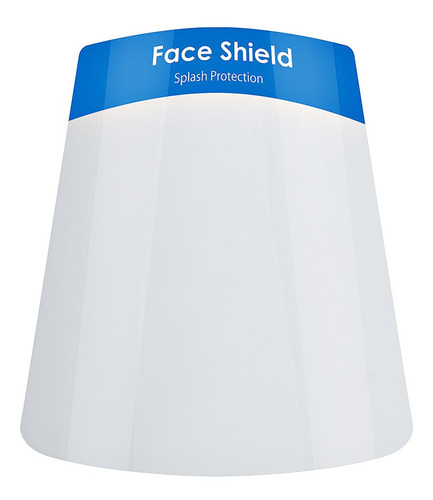 máscara facial protetora anti respingos face shield