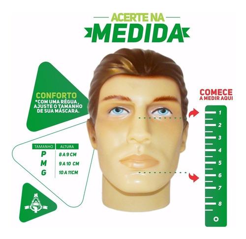 máscara facial quattro air (tamanho médio) lacrada- resmed