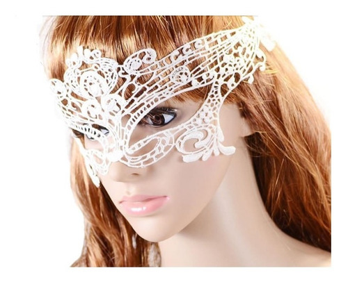 máscara feminina preta renda veneziana debutante 50 tons