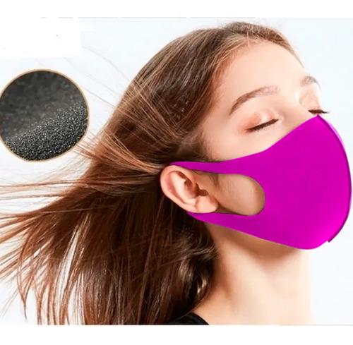 mascara feminina reutilizável tecido lavável dupla camada